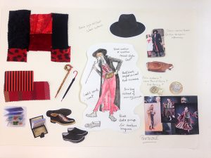 Pantalone - costume design in progress.