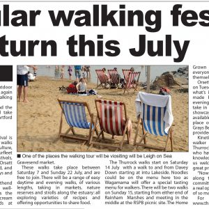 Thurrock 100 2018 Enquirer clipping 28 June p3