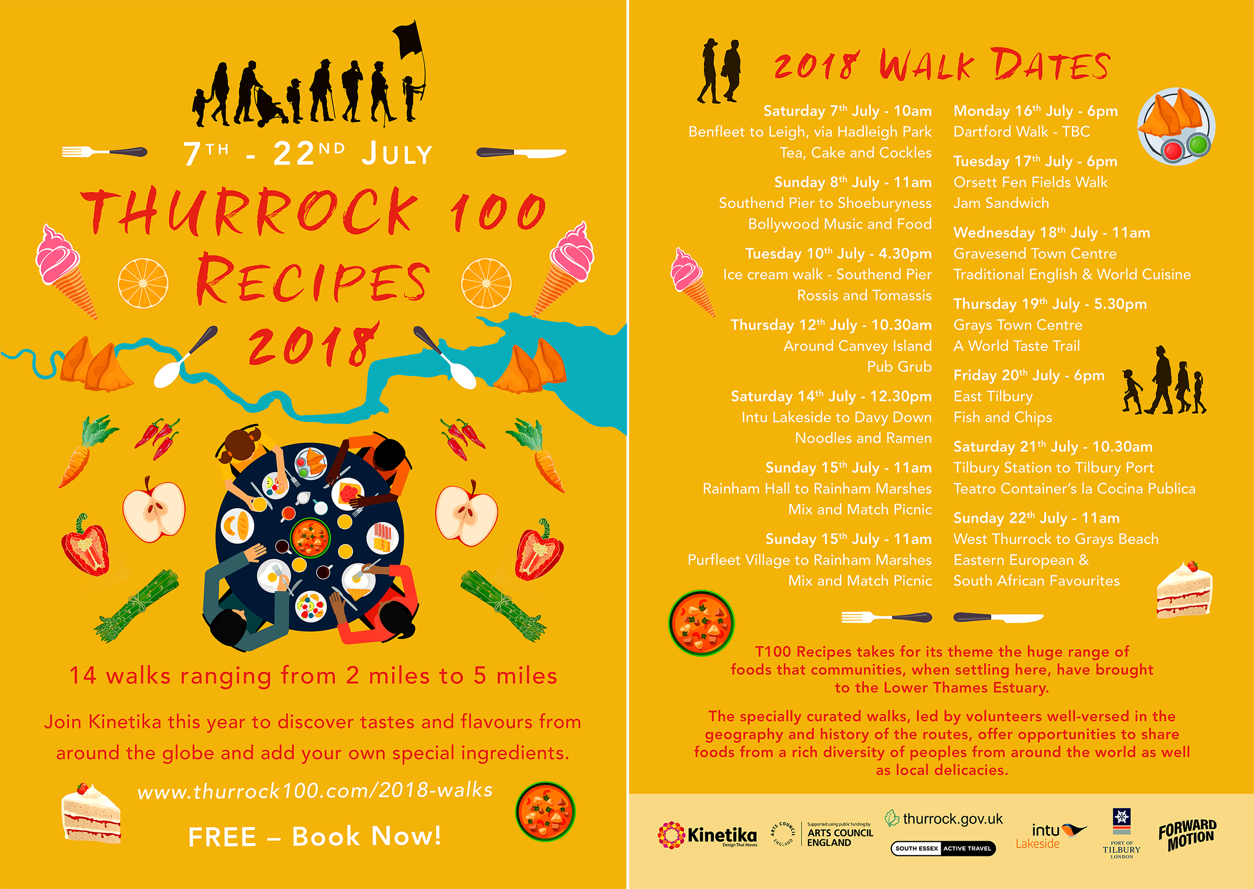 Thurrock 100 Recipes 2018 flyer