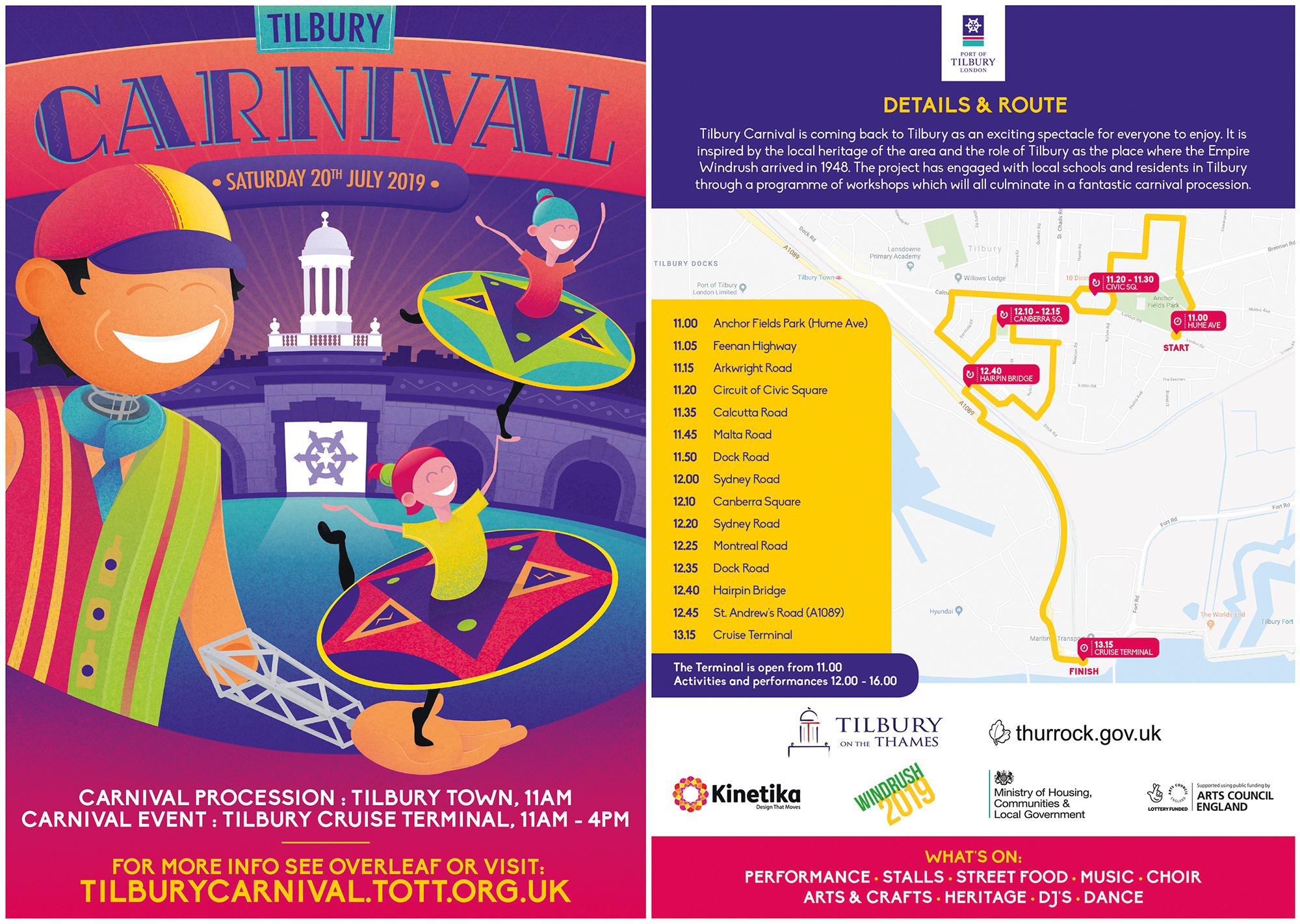 Tilbury Carnival flyer 2019