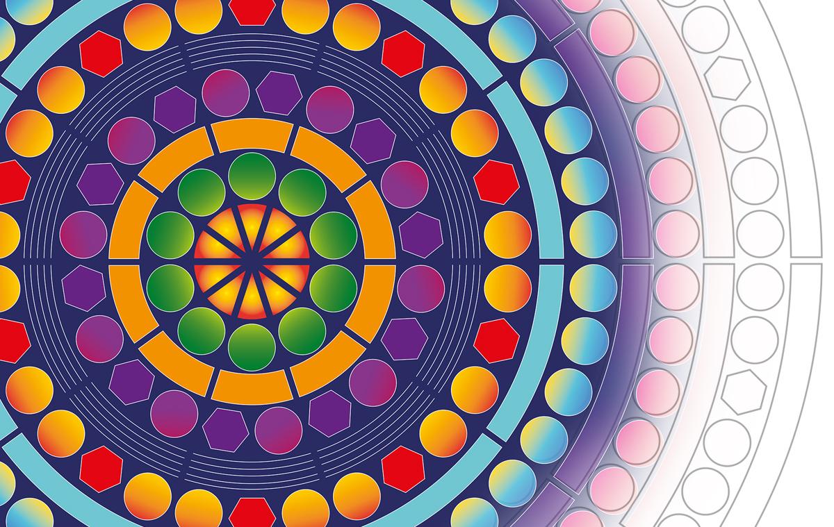 Mandala colouring in