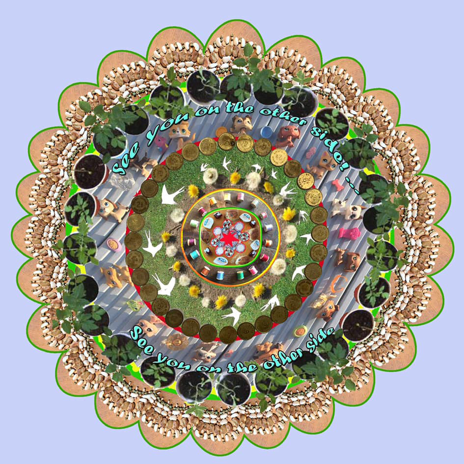 Imagination our nation mandala by Sally Chinea