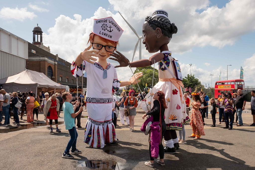 2019 Children of the Windrush puppets