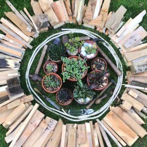 Make do and Mend mandala by Hazel Huber