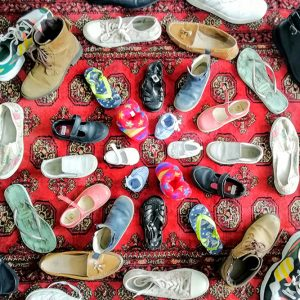 Shoe mandala by Alexandra Godfree Flemmings