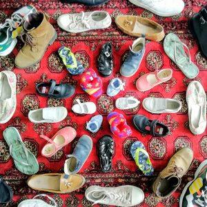 Shoe mandala by Alexandra Godfree Flemmings