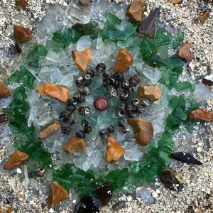Turning Tide mandala by Hazel Huber