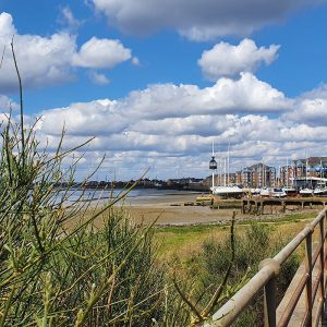 A view of Grays on the Thames estuary